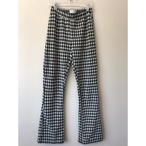 Urban Outfitters Gingham Flare Pants